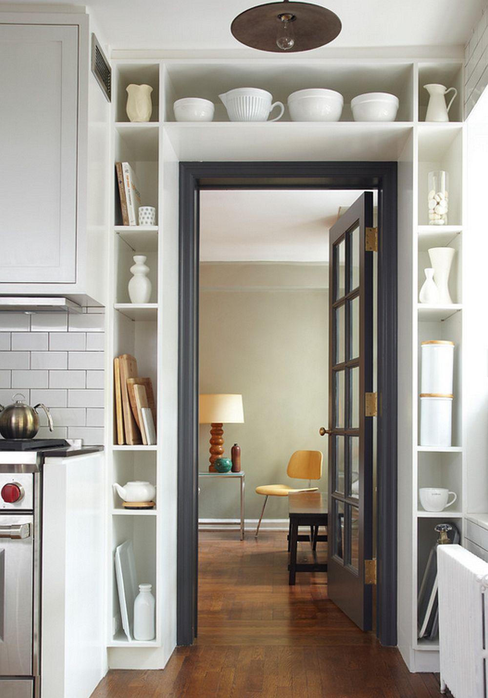 decoración de pisos pequeños - almacenaje vertical
