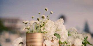 reciclar latas de conserva - centros florales