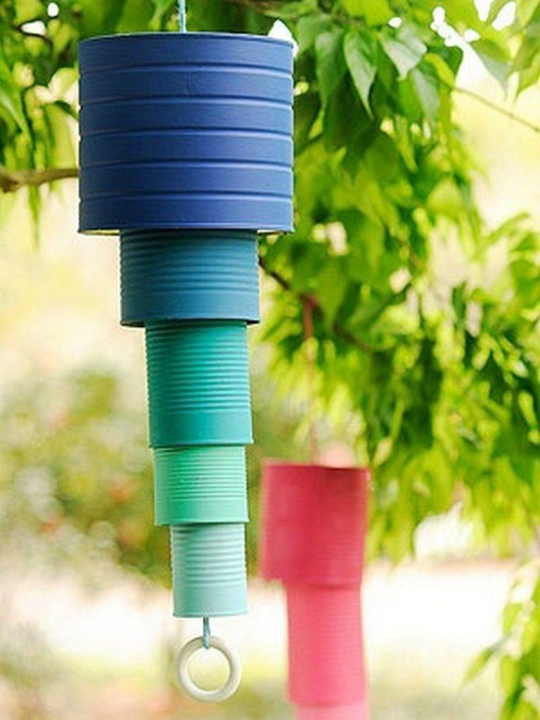 reciclar latas de conserva - pantallas de viento