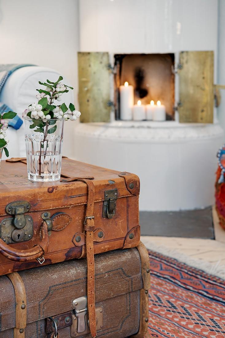 decoración con encanto - maletas vintage