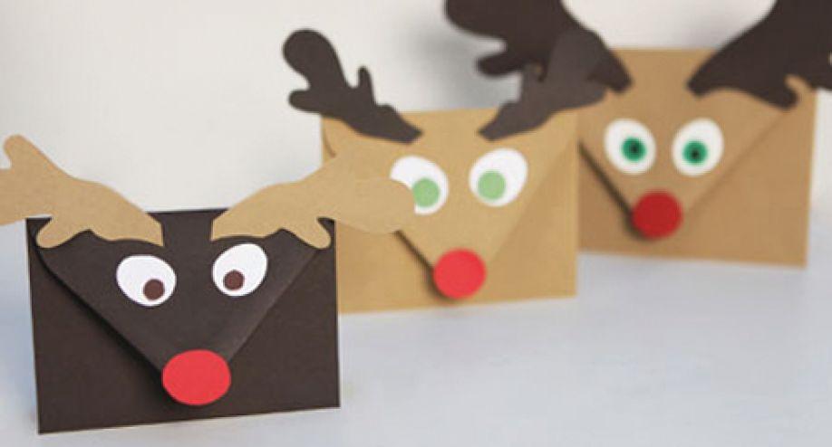 adornos de Navidad fáciles de hacer- sobres navideños