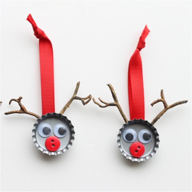 adornos de Navidad fáciles de hacer con chapas
