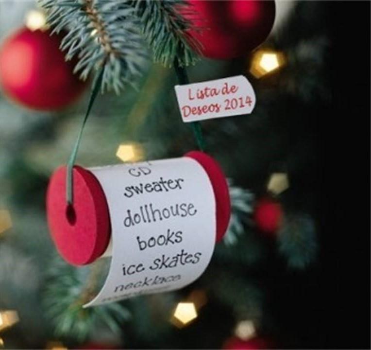 adornos de Navidad fáciles de hacer - lista de deseos