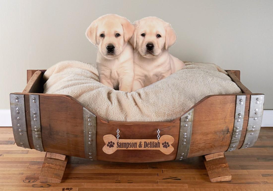 camas para perros - Barriles de vino recuperados
