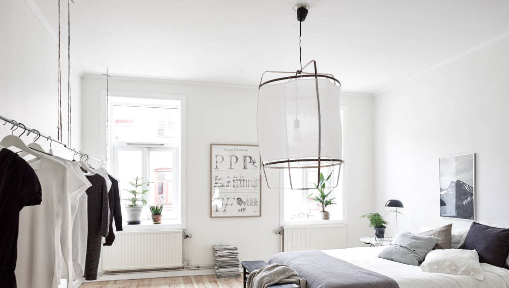 dormitorios minimalistas - iluminación