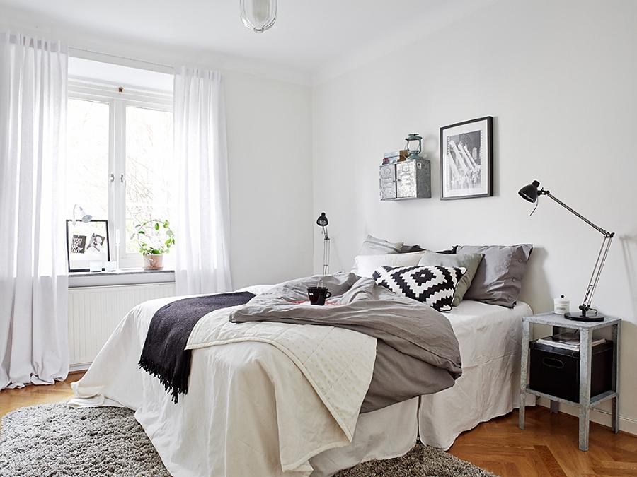 dormitorios minimalistas - textiles