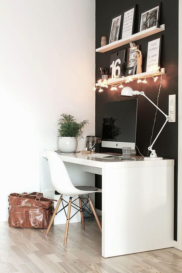 decoración del despacho en el espacio necesario