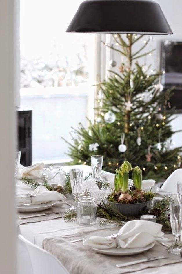 árbol de Navidad nórdico - elementos naturales