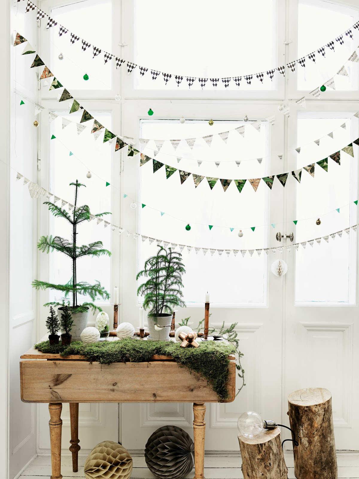 árbol de Navidad nórdico- materiales