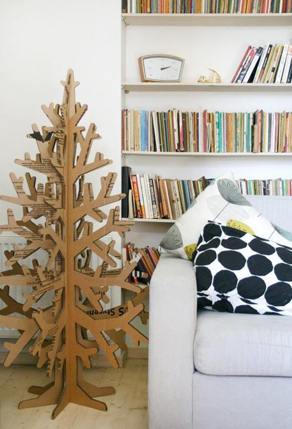 árboles de Navidad originales de cartón