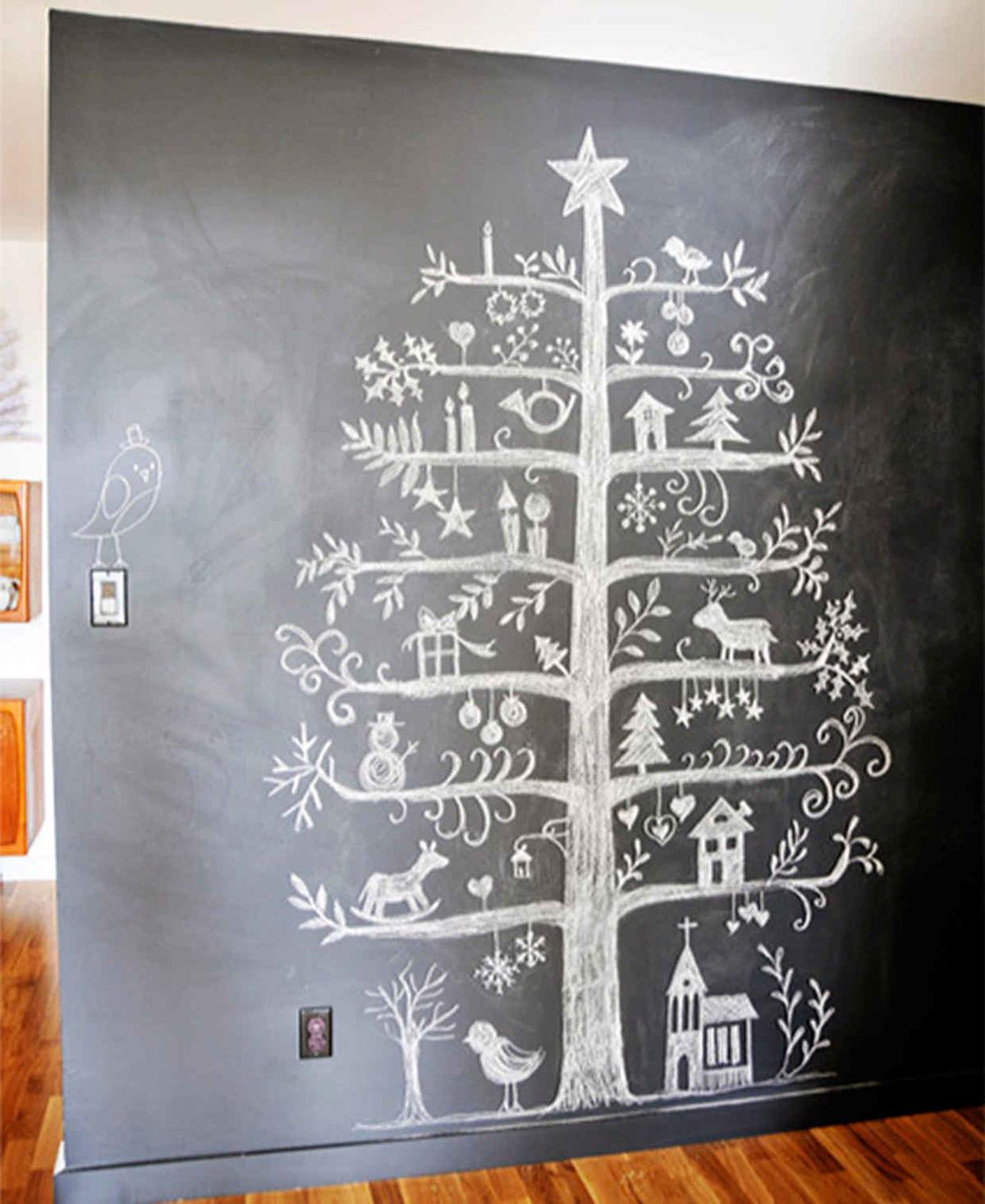 árboles de Navidad originales - pintados