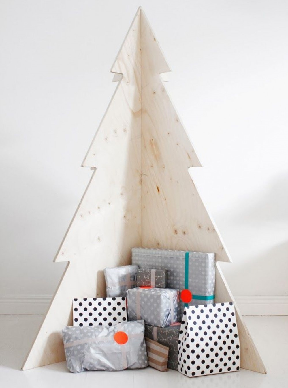 árboles de Navidad originales con madera