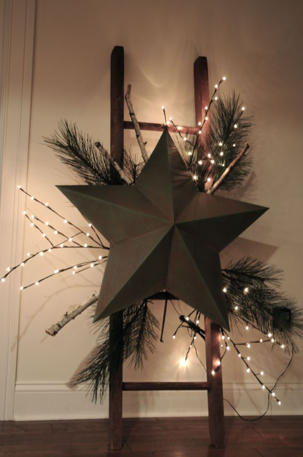 árboles de Navidad originales con escaleras