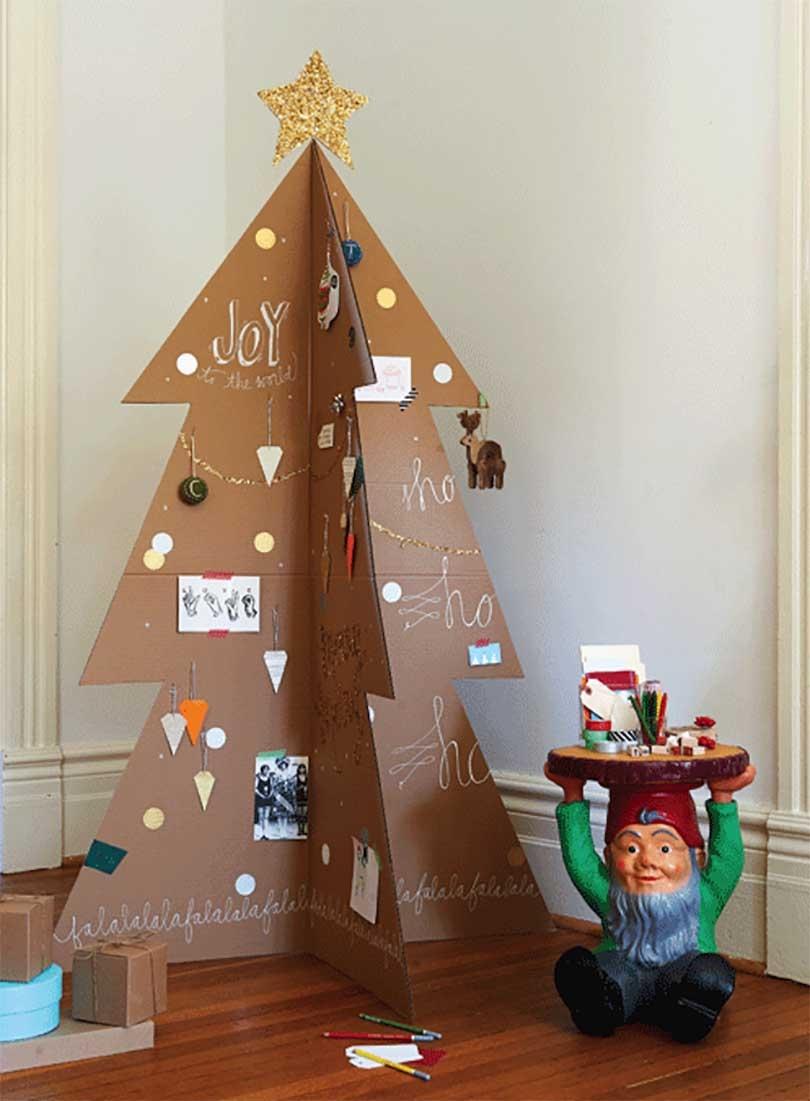 árboles de Navidad originales - con pegatinas