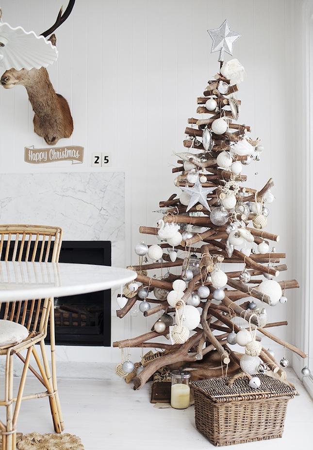árboles de Navidad originales - con troncos