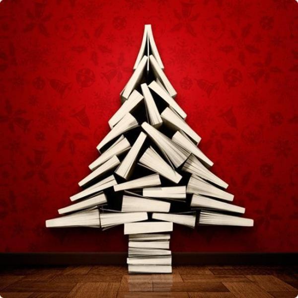 árboles de Navidad originales con libros