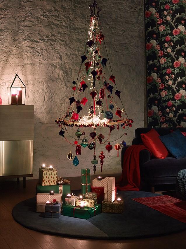 árboles de Navidad originales con colganttes