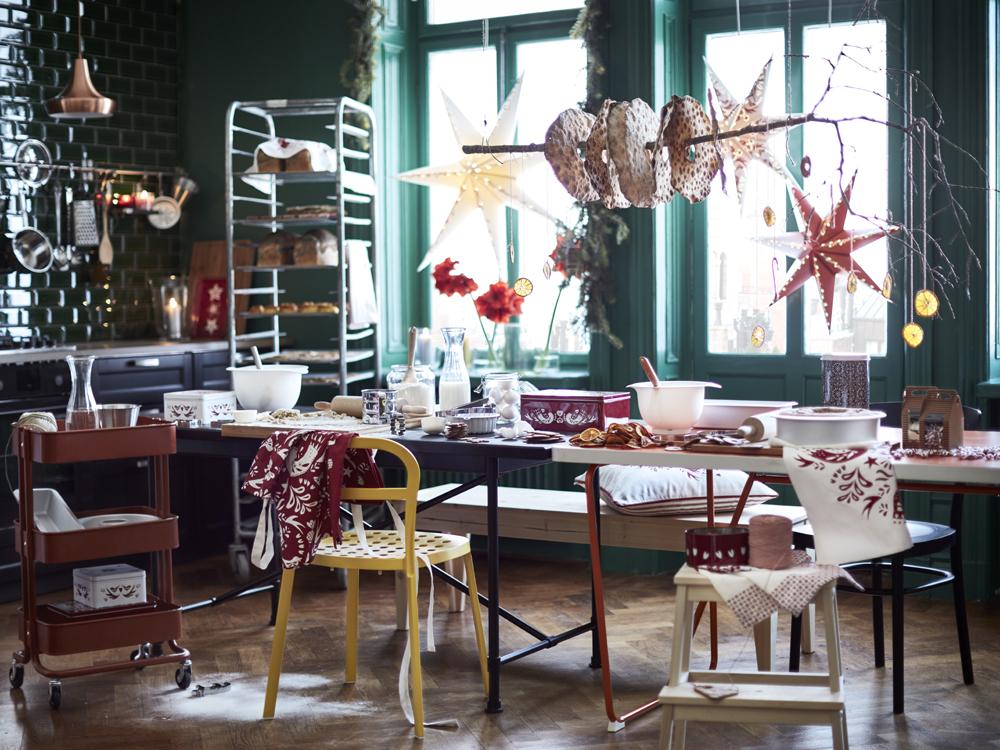 adornos de Navidad de Ikea - cocina