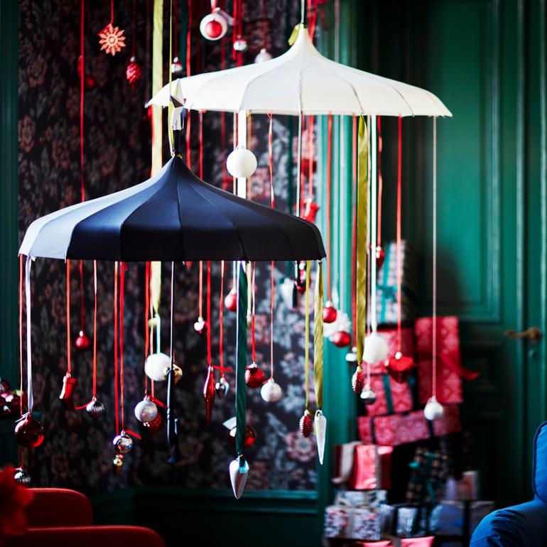 adornos de Navidad de Ikea llenos de color