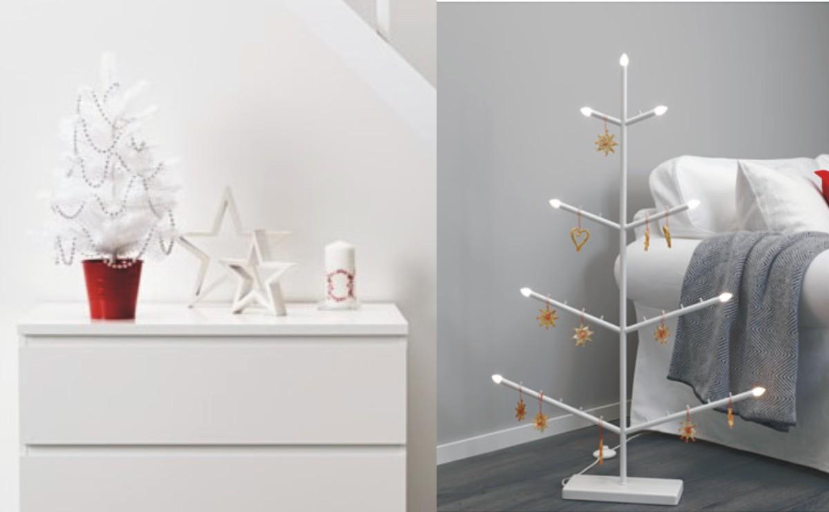 adornos de Navidad de Ikea - árboles artificiales