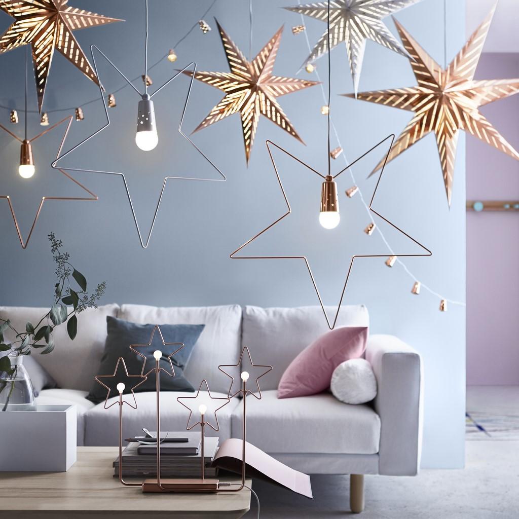 adornos de Navidad de Ikea - iluminación