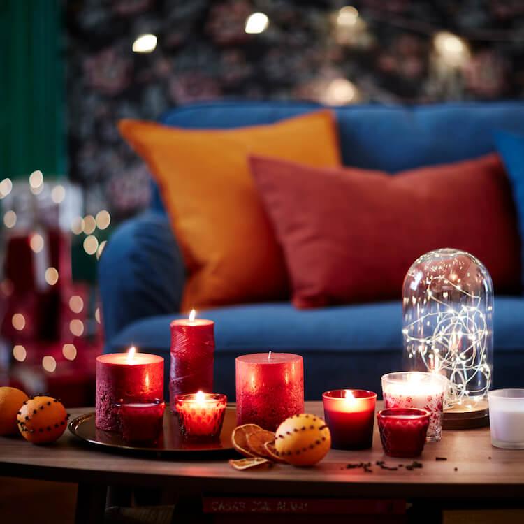 adornos de Navidad de Ikea - velas