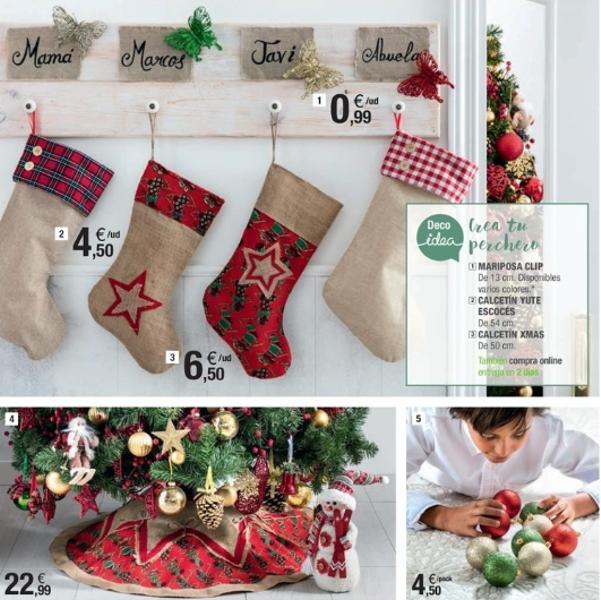 adornos de Navidad de Leroy Merlín - calcetines