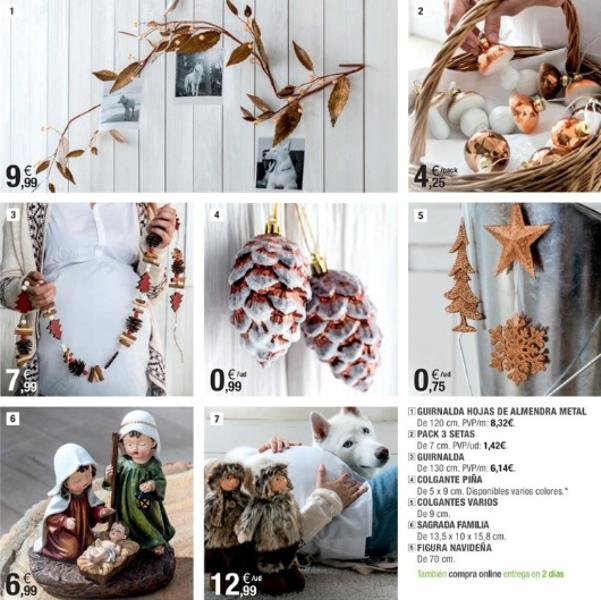 adornos de Navidad de Leroy Merlín - piñas, ramas...