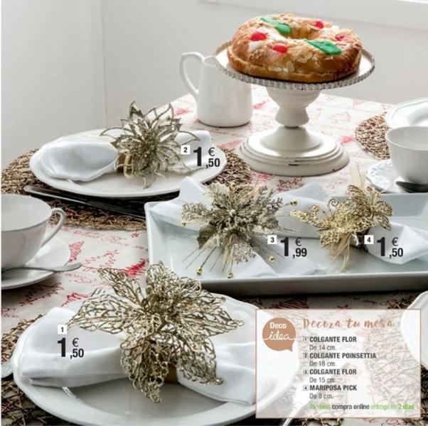 adornos de Navidad de Leroy Merlín - decorar la mesa