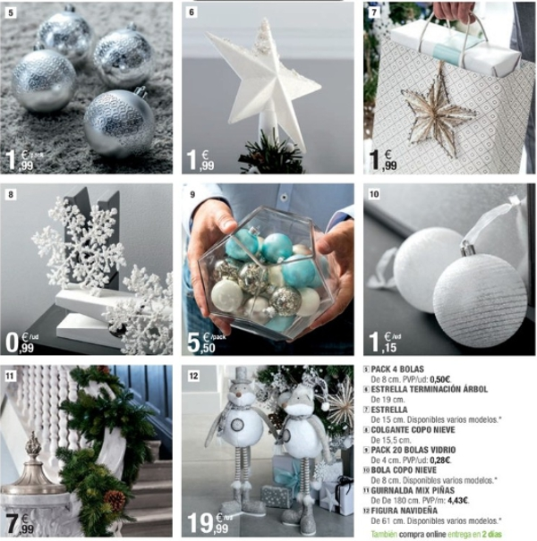 adornos de Navidad de Leroy Merlín en azul
