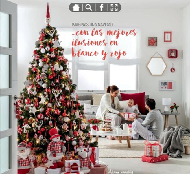 adornos de Navidad de Leroy Merlín - Ilusiones en blanco y rojo