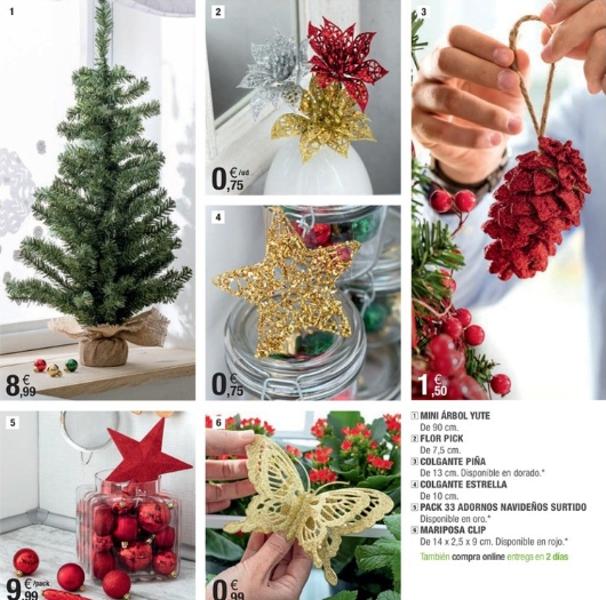adornos de Navidad de Leroy Merlín - tradicionales