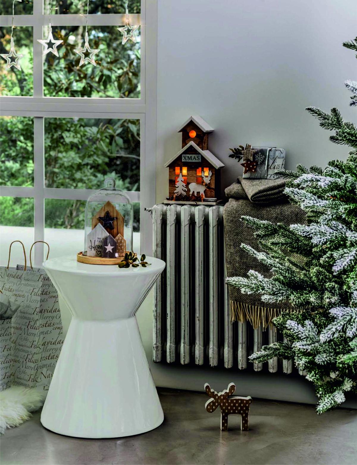 adornos de Navidad de El Corte Inglés - blancos y plateados
