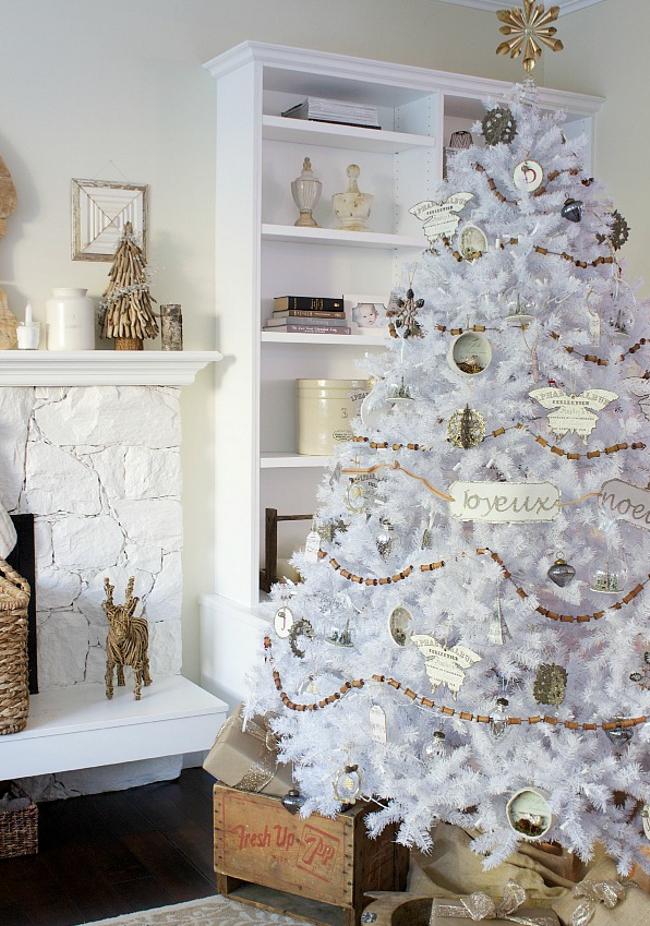 árbol de Navidad blanco - donde ubicarlo