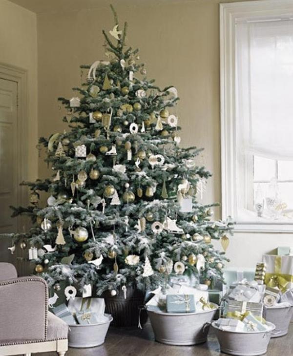 árbol de Navidad natural - tendencias