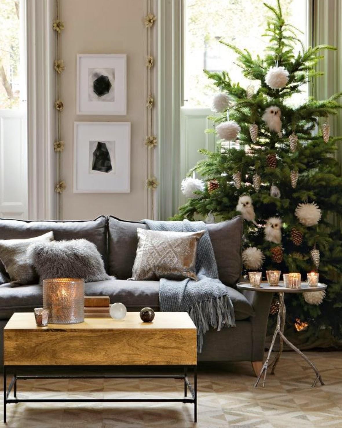 árbol de Navidad natural - cómo colocar los adornos