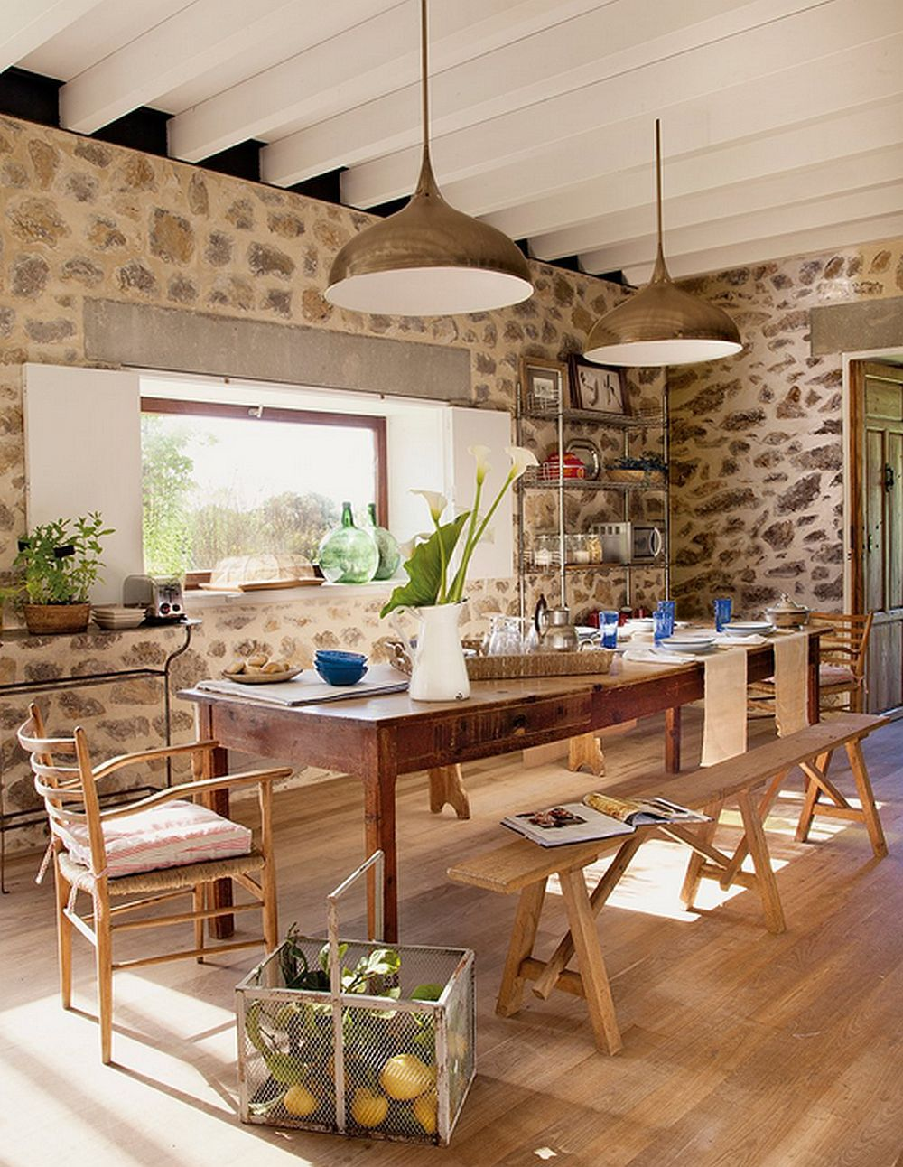 decorar una casa rural - comedor