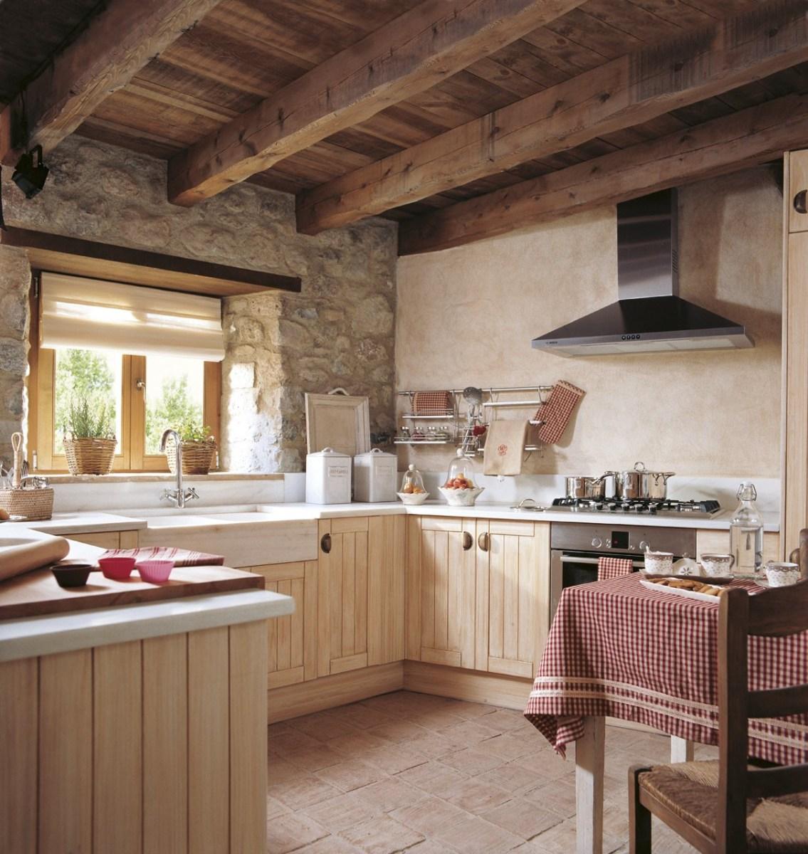 decorar una casa rural - cocina