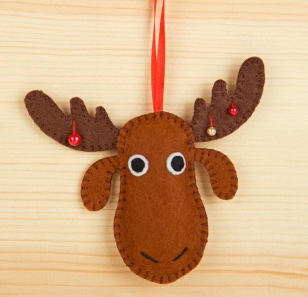 adornos navideños en fieltro - reno