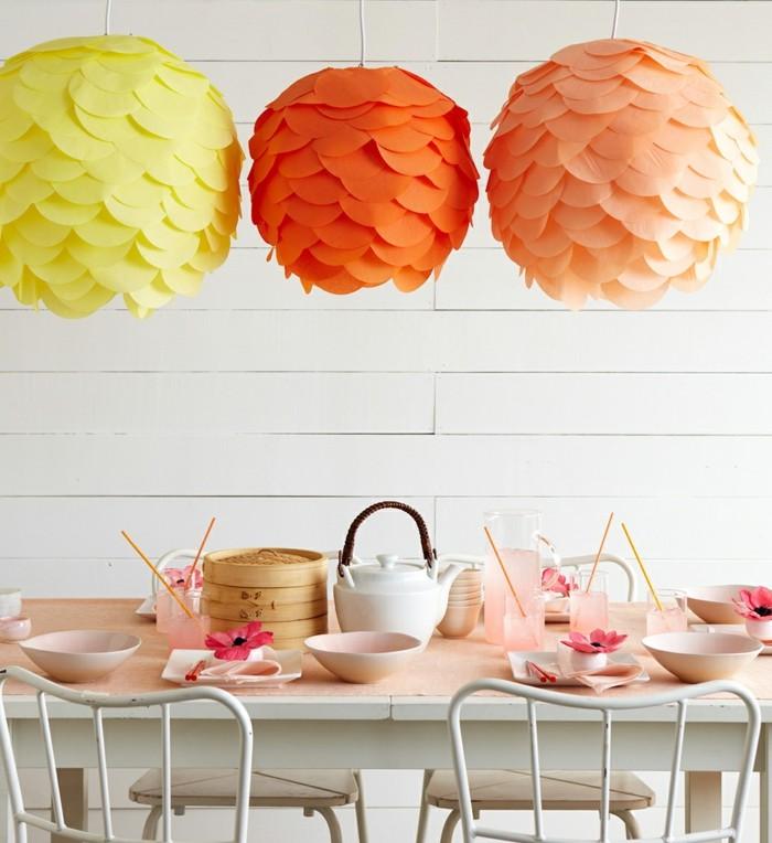 pantallas para lámparas de papel en colores
