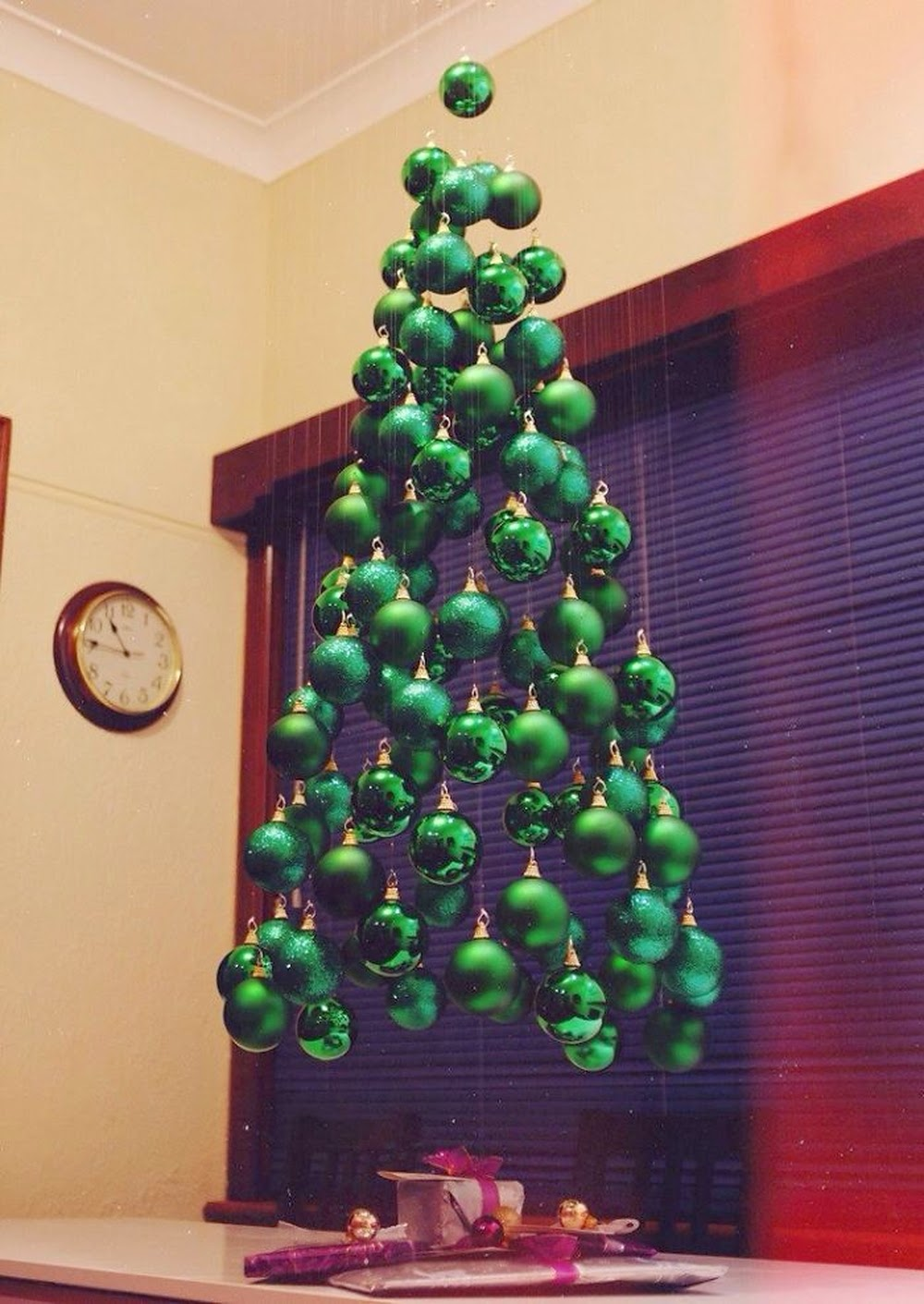 árbol de Navidad casero colgante