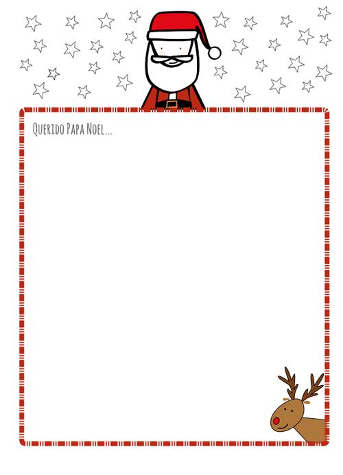 carta de Papá Noel - Sencilla y elegante