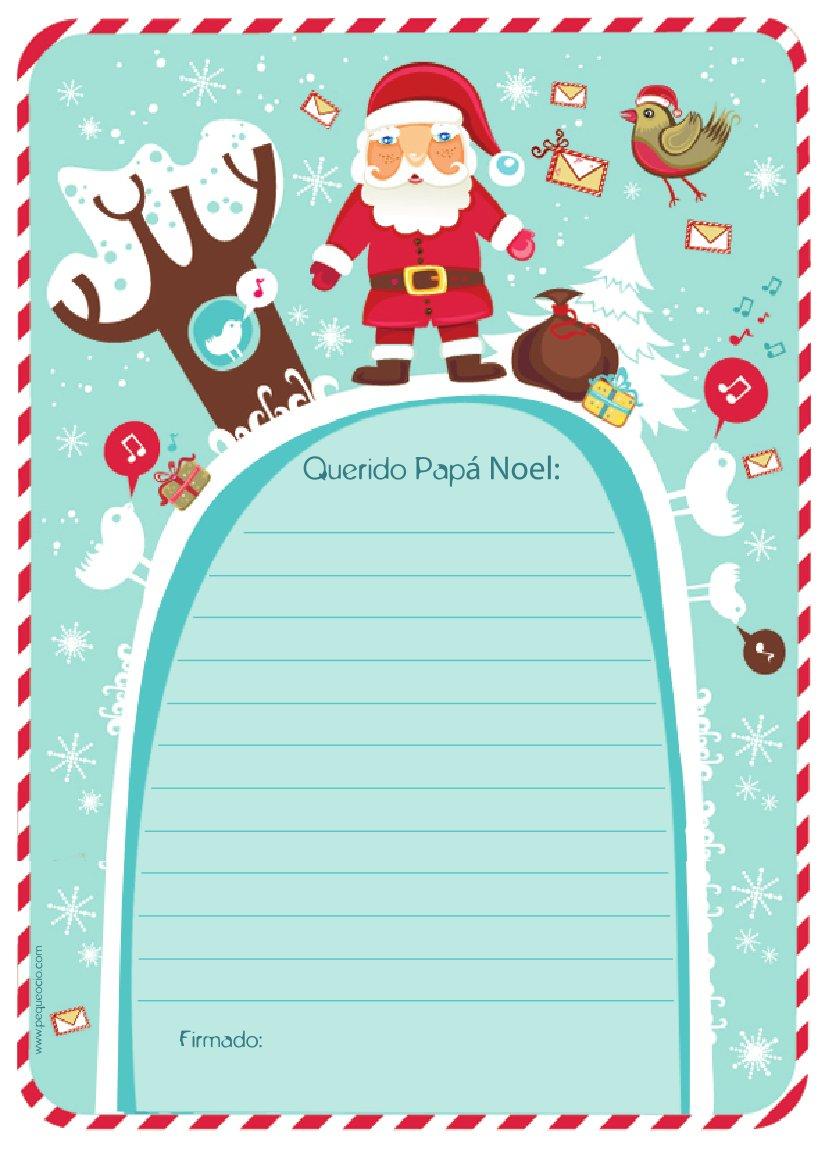carta de Papá Noel - Bonita carta navideña