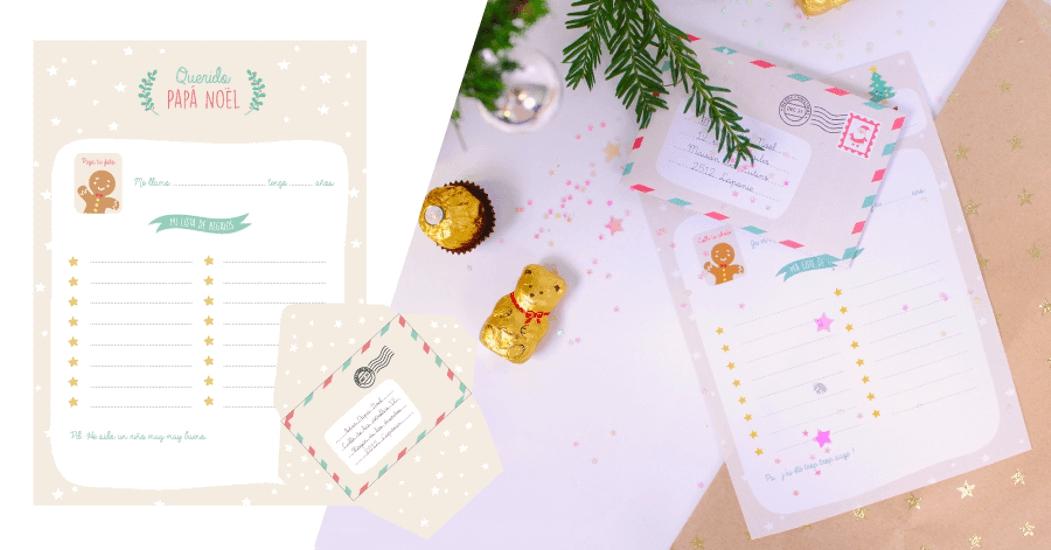 carta de Papá Noel - elegante modelo