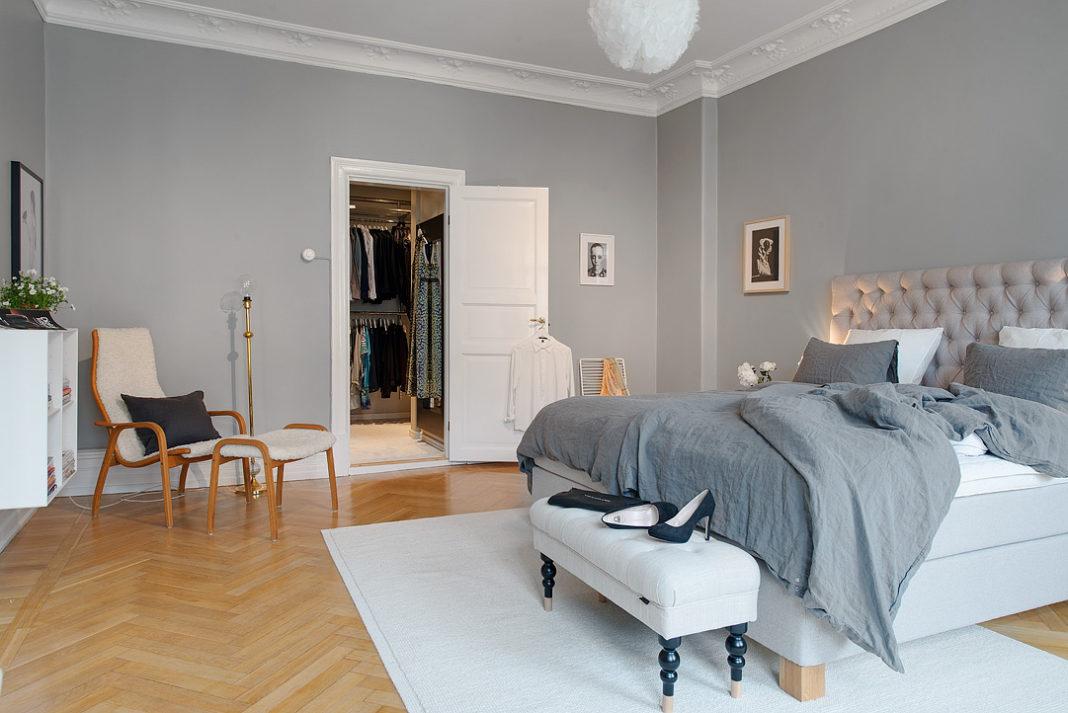 dormitorios modernos en gris