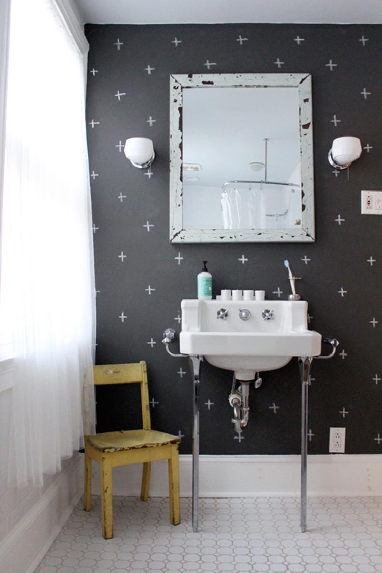 baños originales - pintura de pizarra