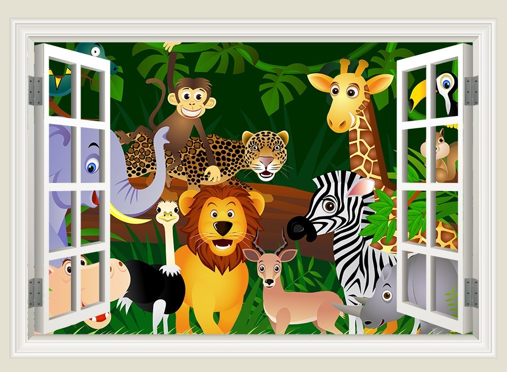 vinilos infantiles - la jungla