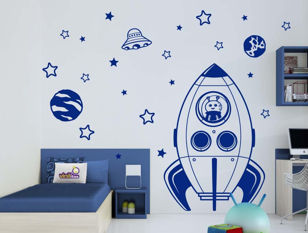 vinilos infantiles - naves espaciales