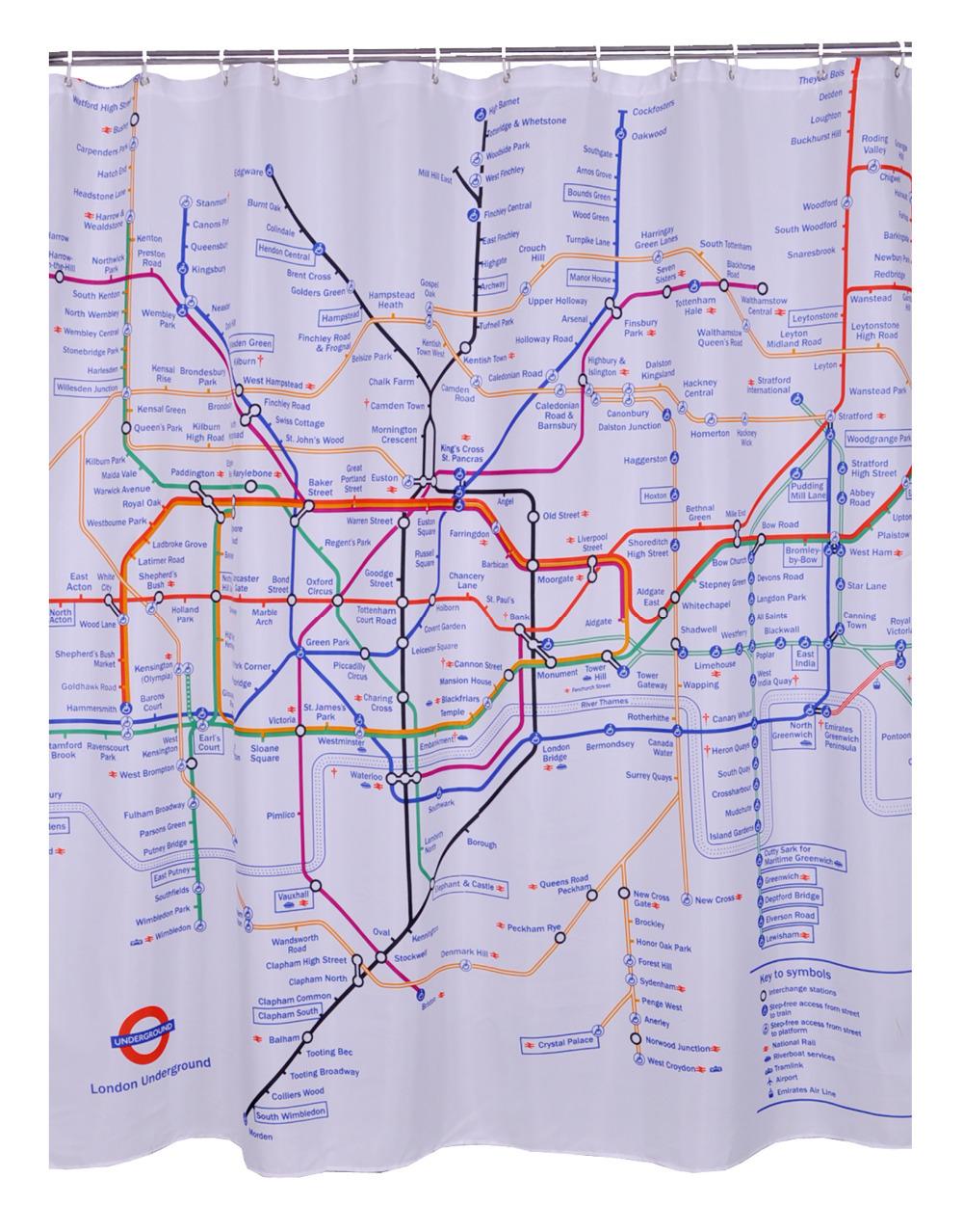cortinas de baño divertidas - Metro de Londres