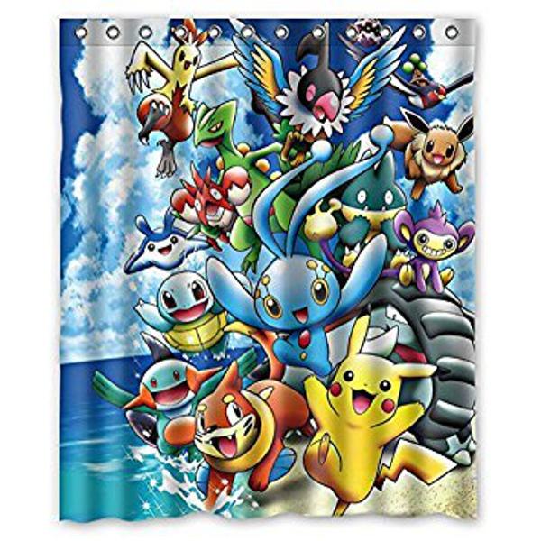 cortinas de baño divertidas - Pokémon